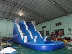 Double Drop Dolphin Wave Water Slide