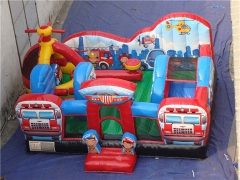 Rescue Squad Inflatable Toddler Playground & Customized Yours Today